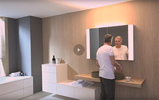 Video zum innovativen RL40 Spiegelschrank